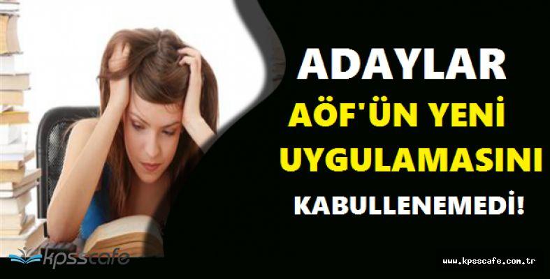 AÖF 3 Ders Sınavına Sayılı Günler Kala Adayların 4 Doğru 1 Yanlış Tepkisi Sürüyor!