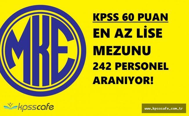 KPSS'den 60 Puana Sahip En Az Lise Mezunu 242 Personel Alımında Açık Pozisyonlar Hangileri?