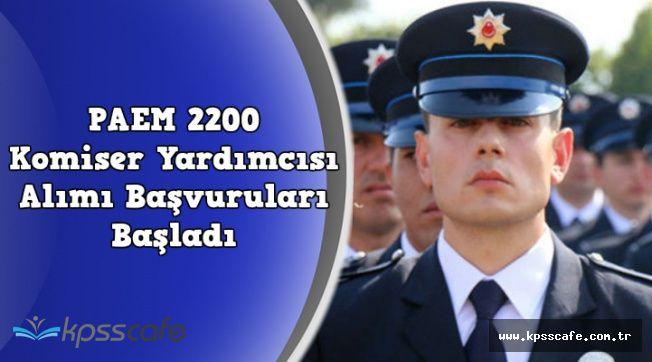 Kadın ve Erkek 2200 Polis Alımı Başvuruları Başladı (Ön Başvuru Ekranı)