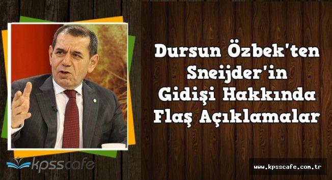 Galatasaray Başkanı Özbek'ten Flaş Sneijder Açıklaması
