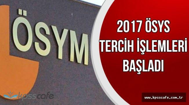 ÖSYM'den Son Dakika Açıklaması: 2017 LYS Tercih İşlemleri Başladı