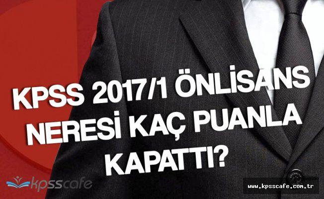 KPSS 2017/1 Önlisans Tercihlerinde En Yüksek ve En Düşük Puanlar