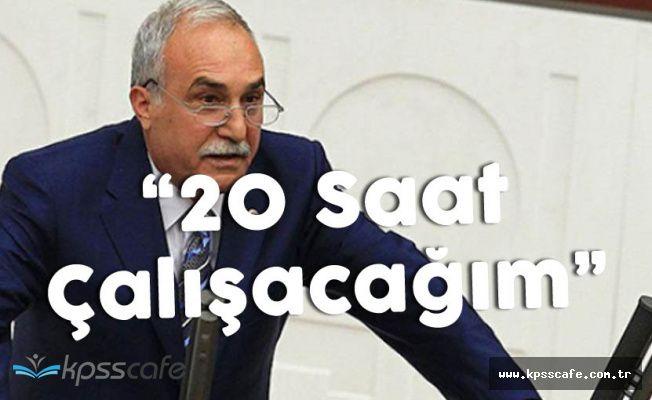 """Yeni Tarım Bakanı: """" 20 Saat Çalışacağım Söz Veriyorum"""""""