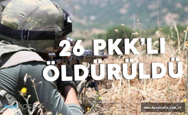 Şırnak'ta 26 Bölücü Terörist İmha Edildi