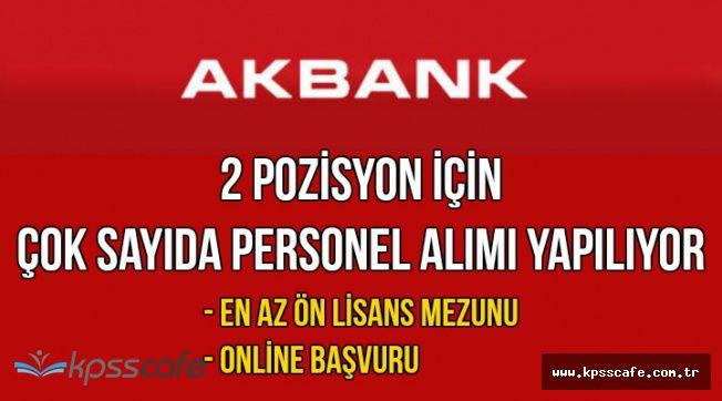 Akbank En Az Ön Lisans Mezunu Çok Sayıda Personel Alımı Yapıyor