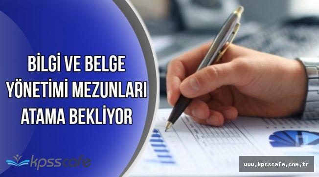 Bilgi ve Belge Yönetimi Mezunu Binlerce Aday Atama Bekliyor