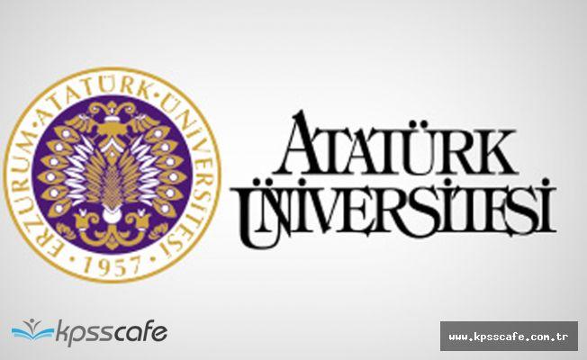 Atatürk Üniversitesi 28 Akademik Personel Alımı Yapacak