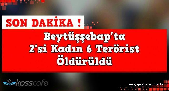 """TSK'dan Son Dakika Açıklaması: """"2'si Kadın 6 Terörist Öldürüldü"""""""
