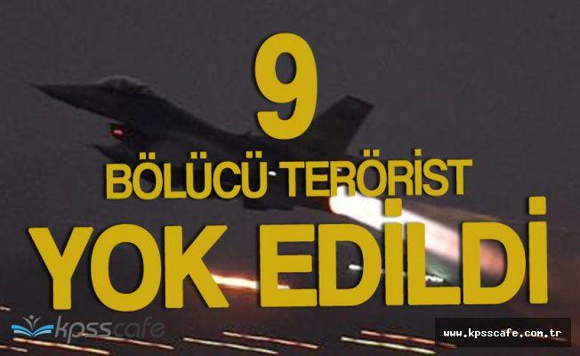 Zap Bölgesindeki 9 Bölücü Terörist Yok Edildi