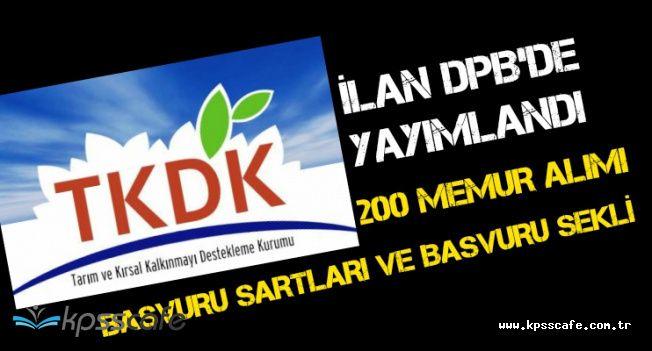 TKDK Memur Alımı Başvuru Şartları ve Başvuru Şekli