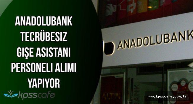 Anadolubank Tecrübesiz Gişe Asistanı Personeli Alımı Yapıyor