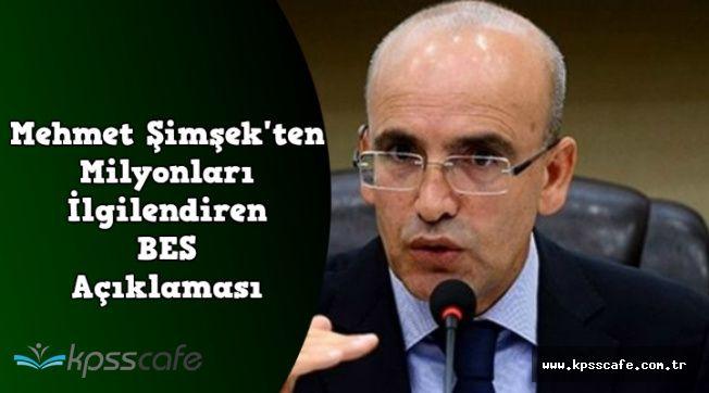Mehmet Şimşek'ten Son Dakika BES Açıklaması: Canlı Yayında Açıkladı