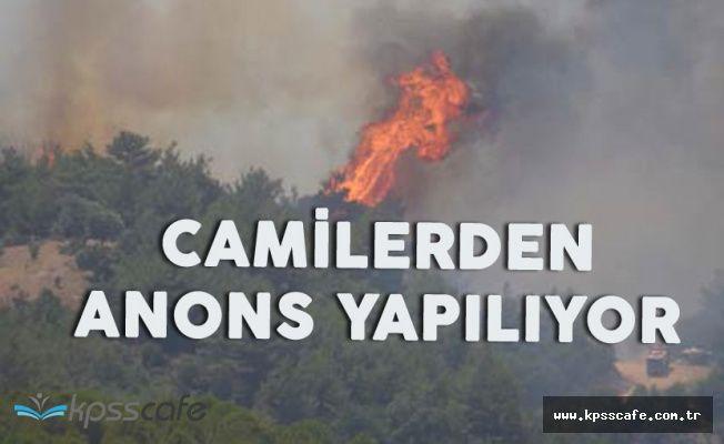 İzmir Bayındır'da Korkutan Yangın! 'Camilerden Anons Yapıldı'