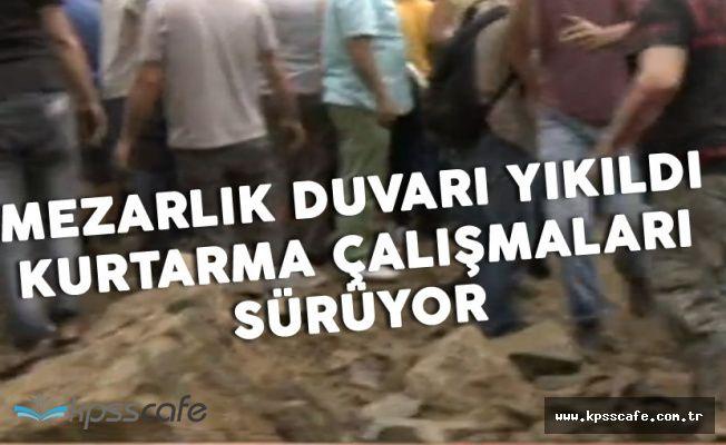 İstanbul'da Mezarlık Duvarı Çöktü! 2 Yaralı Var ! Kurtarma Çalışmaları Sürüyor