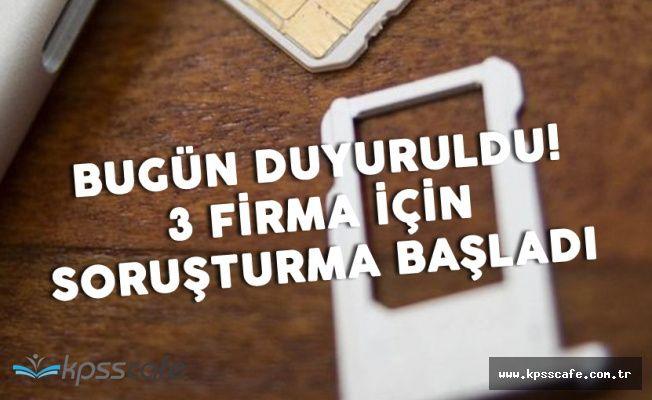 Avea , Vodafone ve Turkcell'e Şok! Soruşturma Başlatıldı