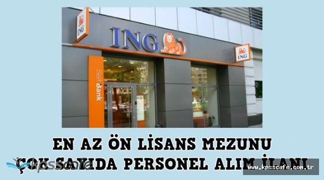 İNG Bank 24 Pozisyona En Az Ön Lisans Mezunu Çok Sayıda Personel Alıyor