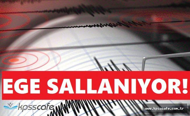 Ege Denizi'nde Büyük Deprem! 30 Artçı Gerçekleşti