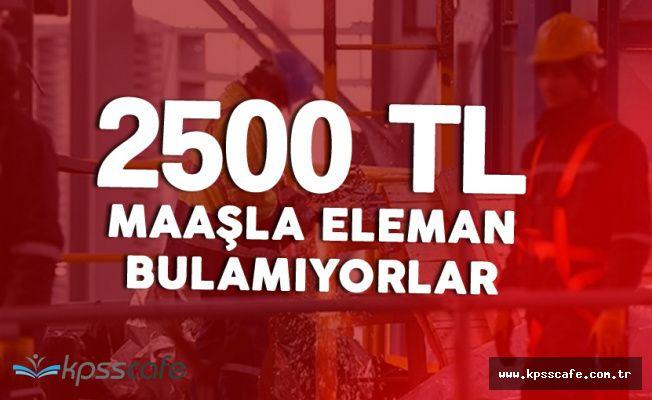 2 Bin 500 Lira Maaşla Eleman Bulamıyorlarmış