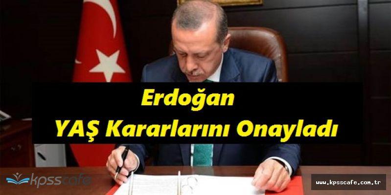 Recep Tayyip Erdoğan YAŞ Kararlarına Onay Verdi!