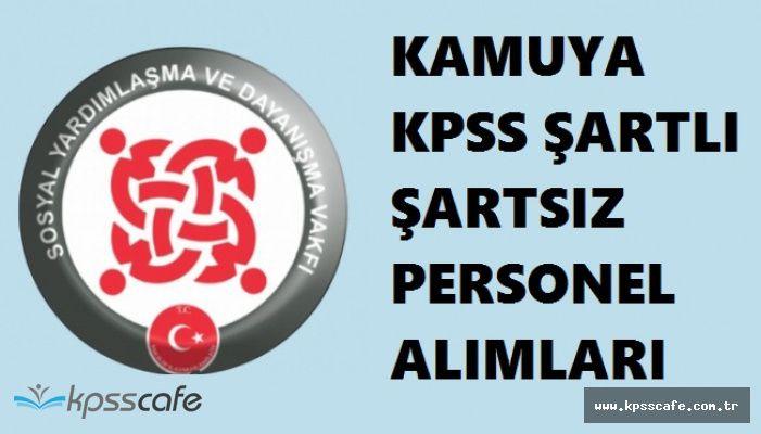 Başvuruları Süren Sosyal Politikalar Bakanlığı Personel Alımları (KPSS ŞARTLI ŞARTSIZ)