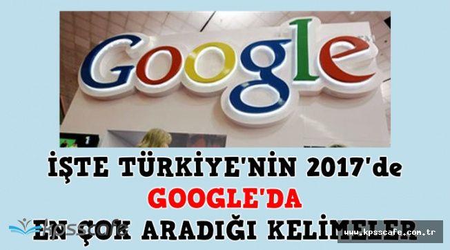 2017 Yılında Türkiye'nin Google'da En Çok Aradığı Kelimeler Belli Oldu
