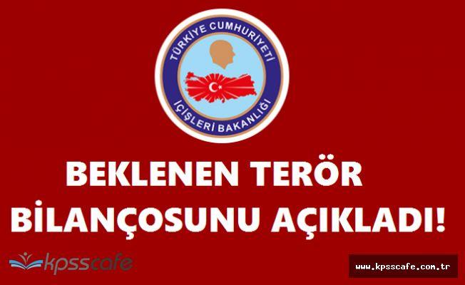 İçişleri Bakanlığı Beklenen Terör Bilançosunu Açıkladı! Bir Haftada 1518 Operasyon