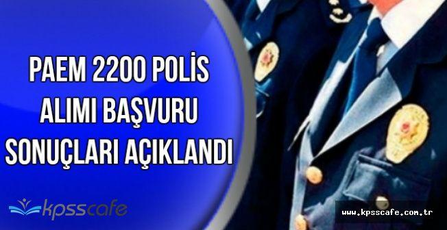 PAEM 2200 Kadın ve Erkek Polis Alımı Başvuru Sonuçları Açıklandı