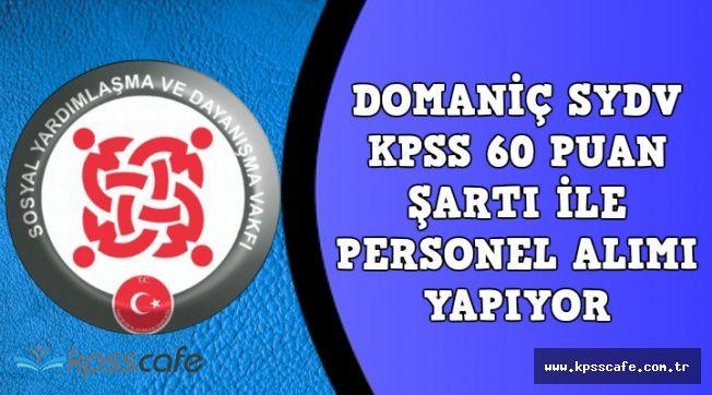 Domaniç SYDV KPSS 60 Puan Şartı ile 1 Büro Personeli Alımı Başvuruları Sona Eriyor