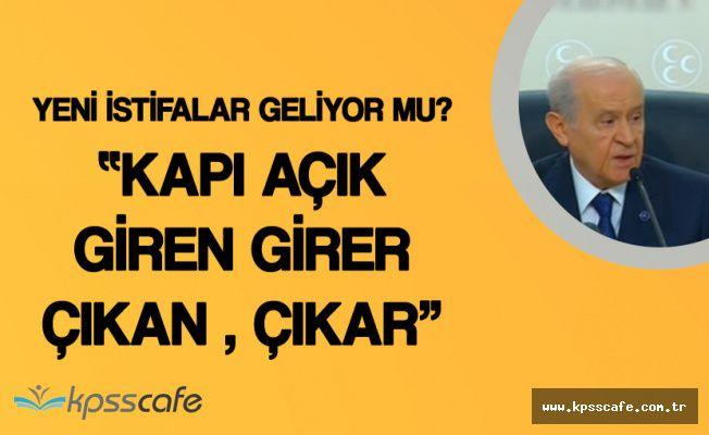 MHP Genel Başkanı'ndan Koray Aydın'ın İstifasıyla İlgili Açıklama 'Yeni İstifalar Geliyor Mu?'