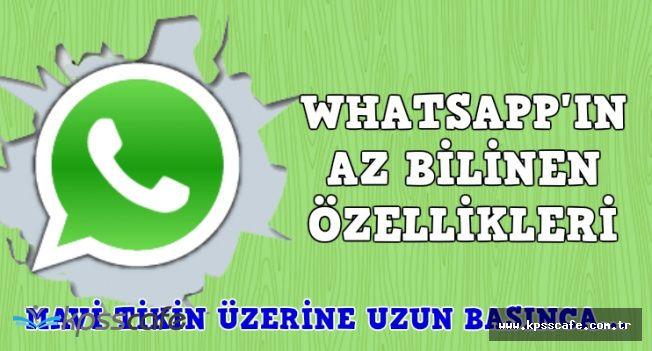 WhatsApp'ın Az Bilinen 4 Özelliği