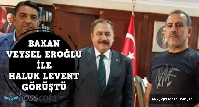 Bakan Veysel Eroğlu ile Haluk Levent Ayvalık'ta Fidan Ekimi İçin Sözleşti