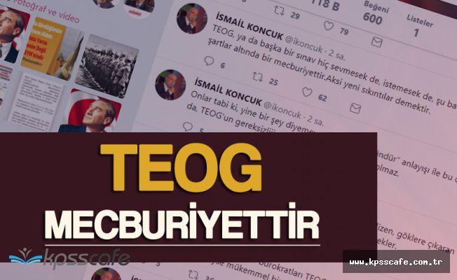 """Türk Eğitim-Sen Genel Başkanı Koncuk:"""" TEOG Mecburiyettir"""""""