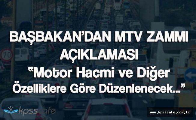 Başbakan'dan MTV Zammıyla İlgili Açıklama Geldi