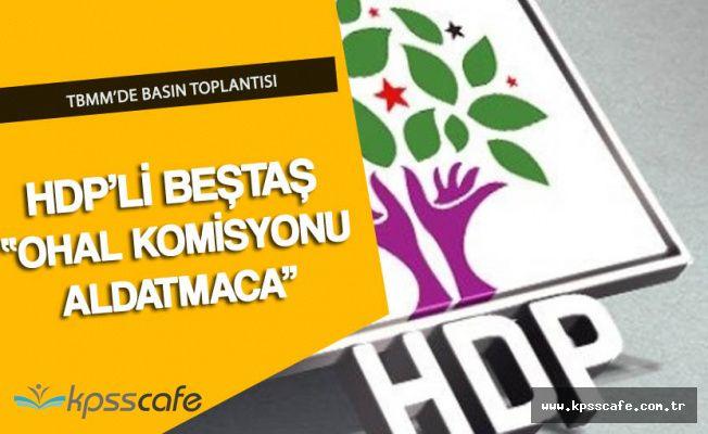 "HDP'li Beştaş ""OHAL Komisyonu Bir Aldatmaca"""