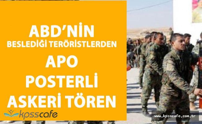 Bölücüler Türkiye Sınırında APO Posterli Tören Yaptı