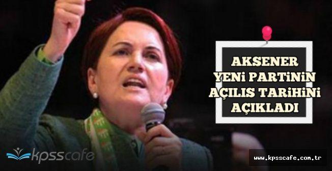Meral Akşener Açıkladı: İşte Partinin Açılış Tarihi ve Tören Yeri