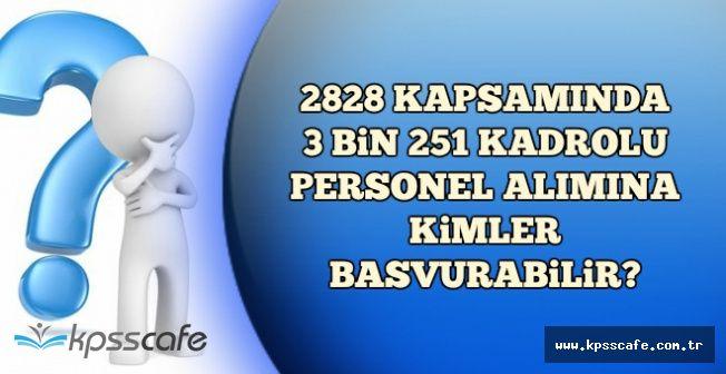KPSS'li ve KPSS'siz 3 Bin 251 Kadrolu Memur Alımına Kimler Başvurabilir? TC Numarası ile Öğren