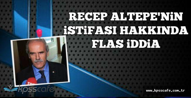 Bursa Büyükşehir Belediye Başkanı Recep Altepe'nin İstifası Hakkında Flaş Açıklama