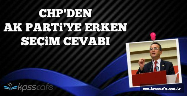 "CHP'li Tezcan'dan AK Parti'ye Erken Seçim Cevabı: ""Size Diken Olmuş"""