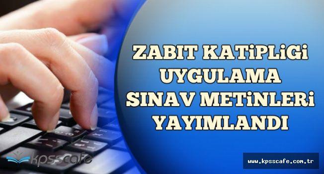 Adalet Bakanlığı 2250 Zabıt Katibi Uygulama Sınavı Metinlerini Yayımladı