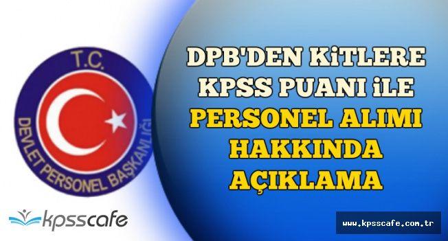 DPB'den KİT'lere KPSS Puanı İle Personel Alımına İlişkin Duyuru