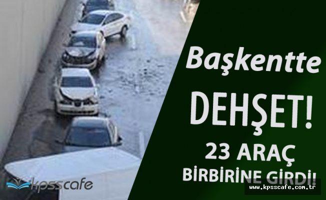 Ankara'da Feci Zincirleme Kaza! 23 Araç Birbirine Girdi ! Yaralılar Var