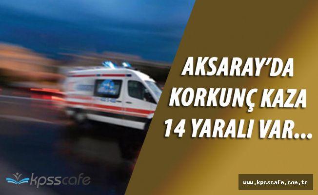 Tarım İşçilerini Taşıyan Araç Kaza Yaptı! 14 Yaralı Var