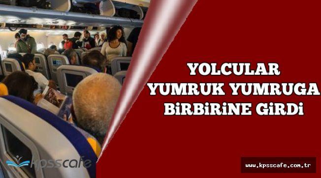 Ankara-İstanbul Seferi Yapan Uçakta Yumruk Yumruğa Kavga