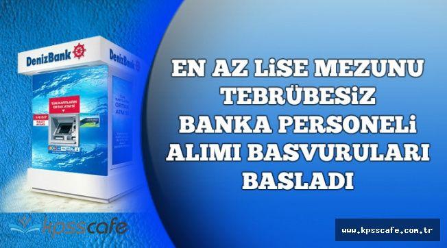 En Az Lise Mezunu Tecrübesiz Banka Personeli Alımı Başvuruları Başladı
