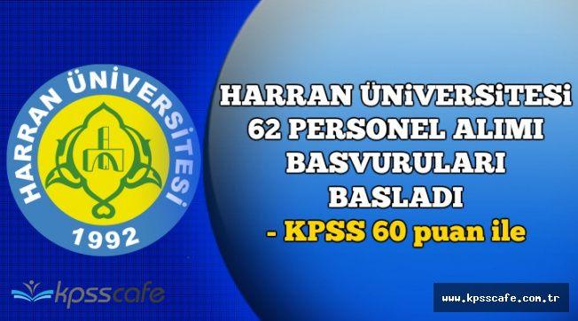 Harran Üniversitesi Personel Alımı Başvuruları Başladı (Başvuru Özel Şartları)