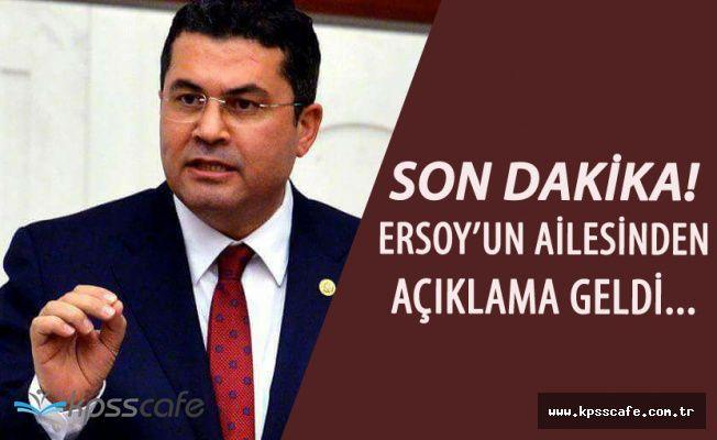 MHP'li Milletvekili Ruhi Ersoy'un Sağlık Durumu Hakkında Açıklama Geldi