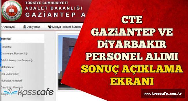 CTE Gaziantep ve Diyarbakır Personel Alımı Sonuçları Açıklandı