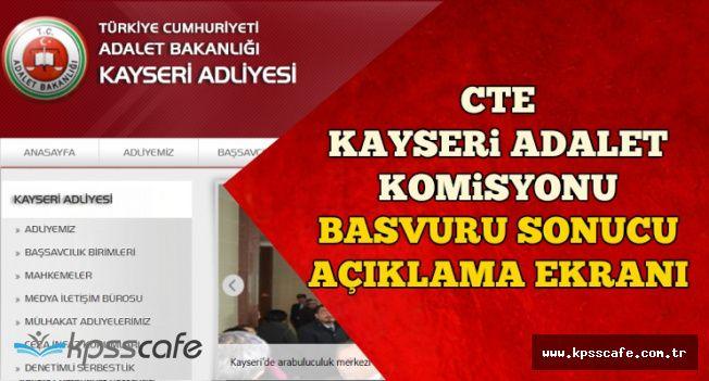 CTE Boğazlıyan, Kayseri, Nevşehir ve Yozgat Personel Alımı Sonuç Açıklama Ekranı