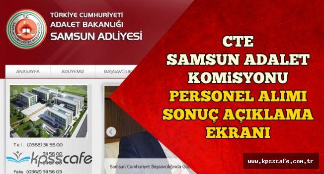 CTE Samsun Komisyonu Personel Alımı Sonuç Açıklama Ekranı-KPSS Sıralaması Açıklandı mı?